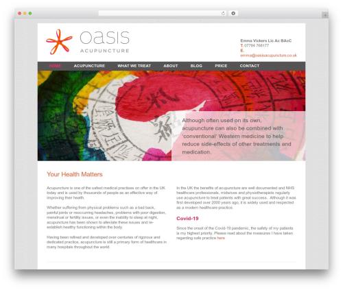 Best WordPress template Revolution - oasisacupuncture.co.uk