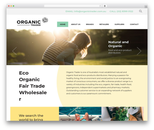 Best WordPress theme Organic - organictrader.com.au