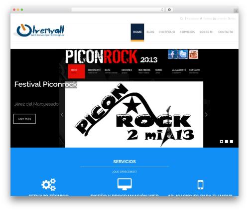 Hercules WordPress portfolio template - olverwall.com