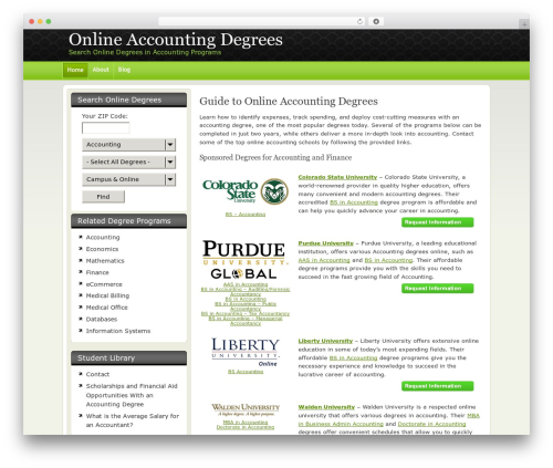 New Evolution WordPress theme - onlineaccountingdegree.com