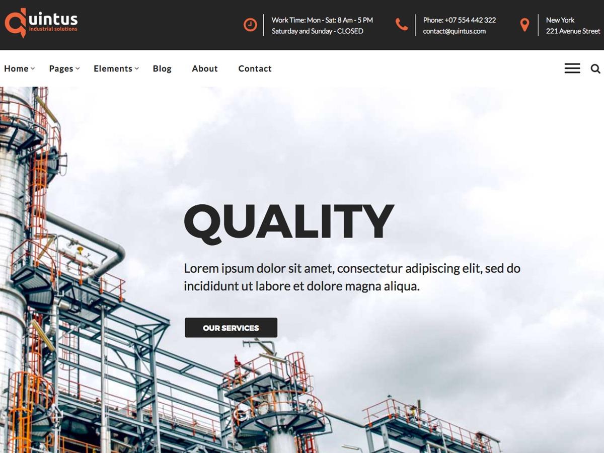 QuintusWP WordPress theme