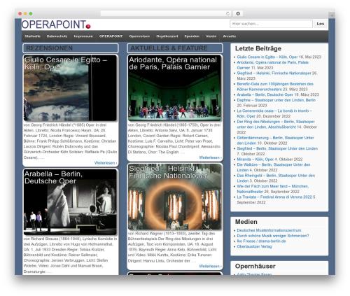 Template WordPress Responsive - operapoint.de