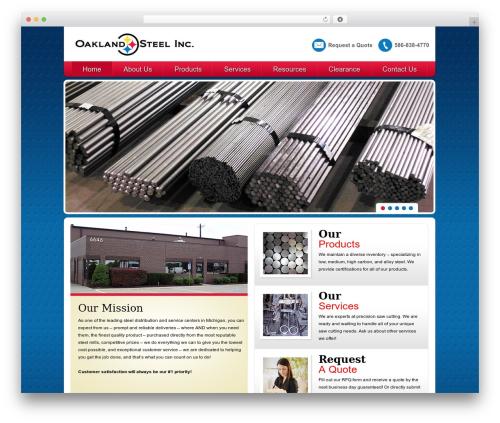 Twenty Eleven best free WordPress theme - oaklandsteelinc.com