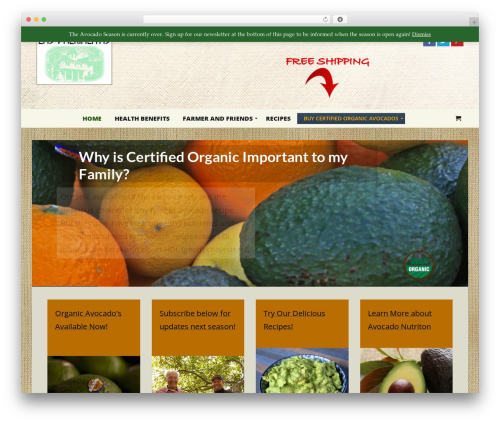 Best WordPress theme Headway Base - organicavocado.net