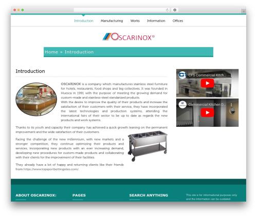 ButterBelly WordPress theme - oscainox.com