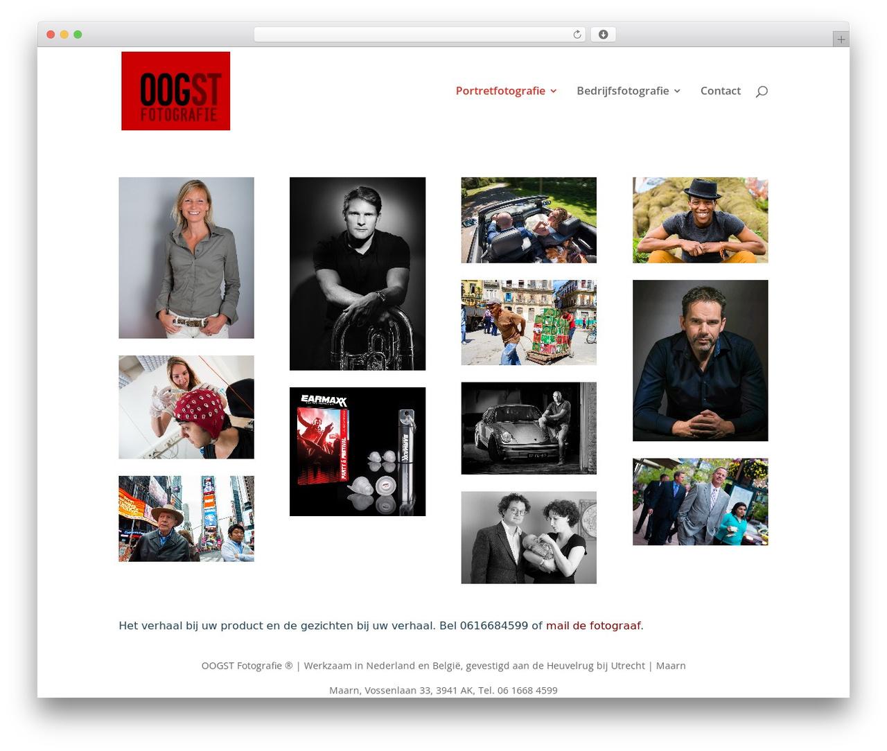 Divi top WordPress theme - oogstfotografie.nl
