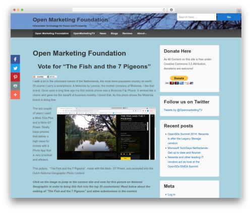 Responsive free WP theme - openmarketingfoundation.com