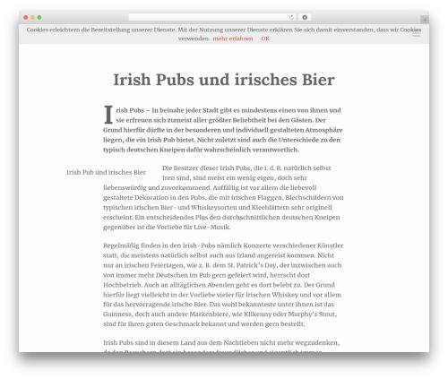 Scrawl best free WordPress theme - on-zine.net/lifestyle/irish-pubs-und-irisches-bier-27142011