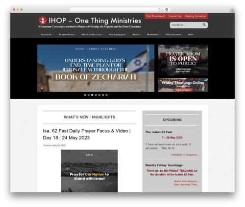 Theme WordPress Swatch - onethingministries.net