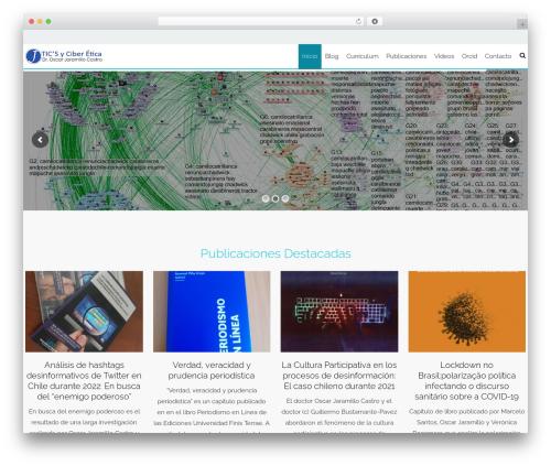 AccessPress Staple Pro WordPress theme design - oscarjaramillo.cl