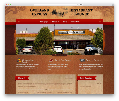 Bordeaux Premium Theme best restaurant WordPress theme - overlandexpressrestaurant.com