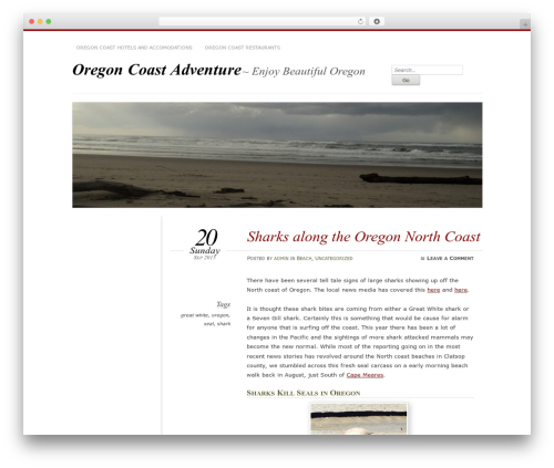 Chateau WordPress template - oregoncoastadventure.com