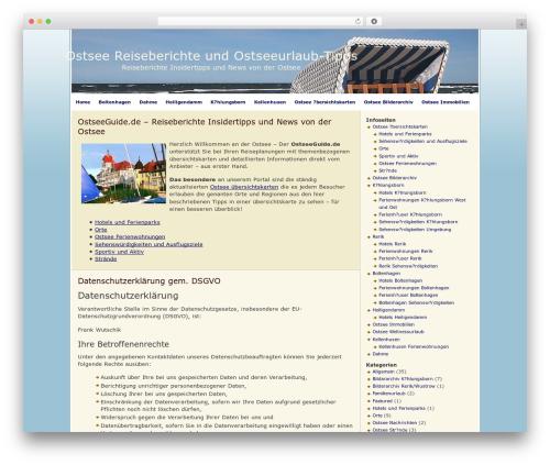 FallSeason best WordPress theme - ostseeguide.de