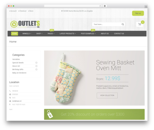 HandyStore Theme best WooCommerce theme - outlets.nl
