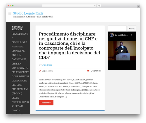 Magazie Minimal WordPress template free download - studiolegalerudi.it