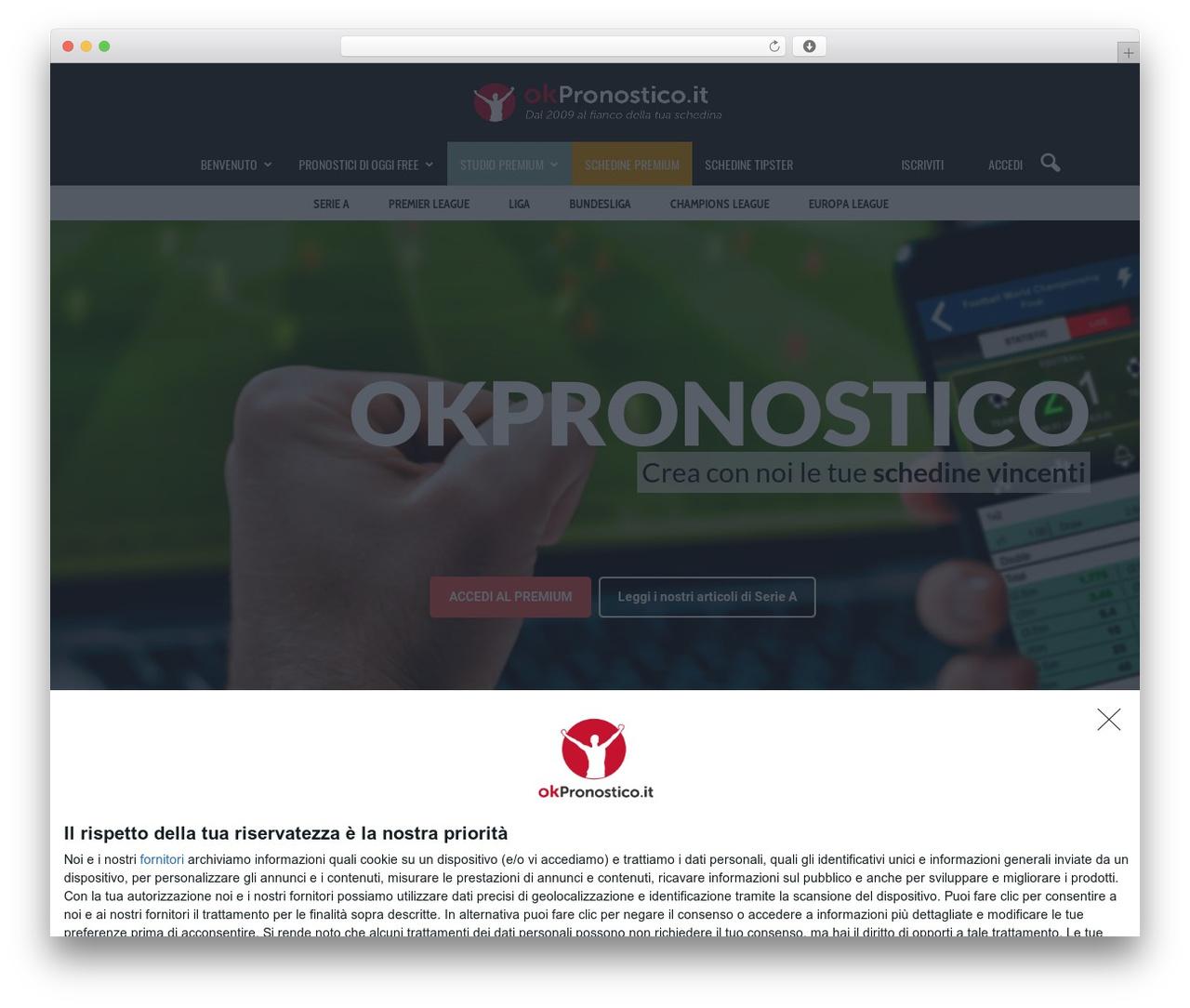 Newspaper premium WordPress theme - okpronostico.it