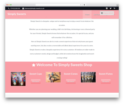 ProStyler Theme WP theme - simply-sweets.co.uk