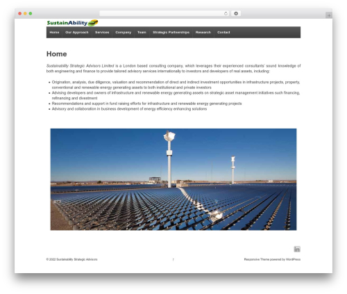 Responsive WordPress template free download - sustainability-sa.com