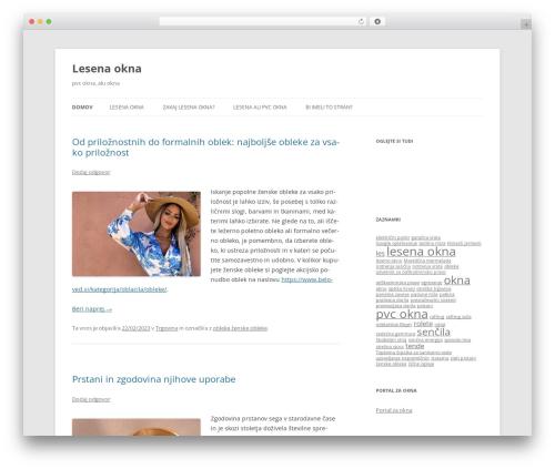 Twenty Twelve WordPress theme design - okna-lesena.com