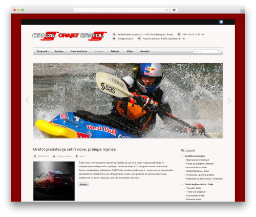 WordPress website template Meccano (shared on themelock.com) - oracal.rs
