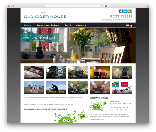 Avada WordPress theme - theoldciderhouse.co.uk