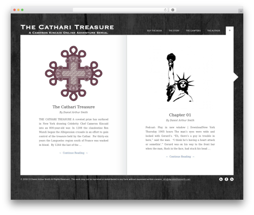 Best WordPress template The Novelist - thecatharitreasure.com
