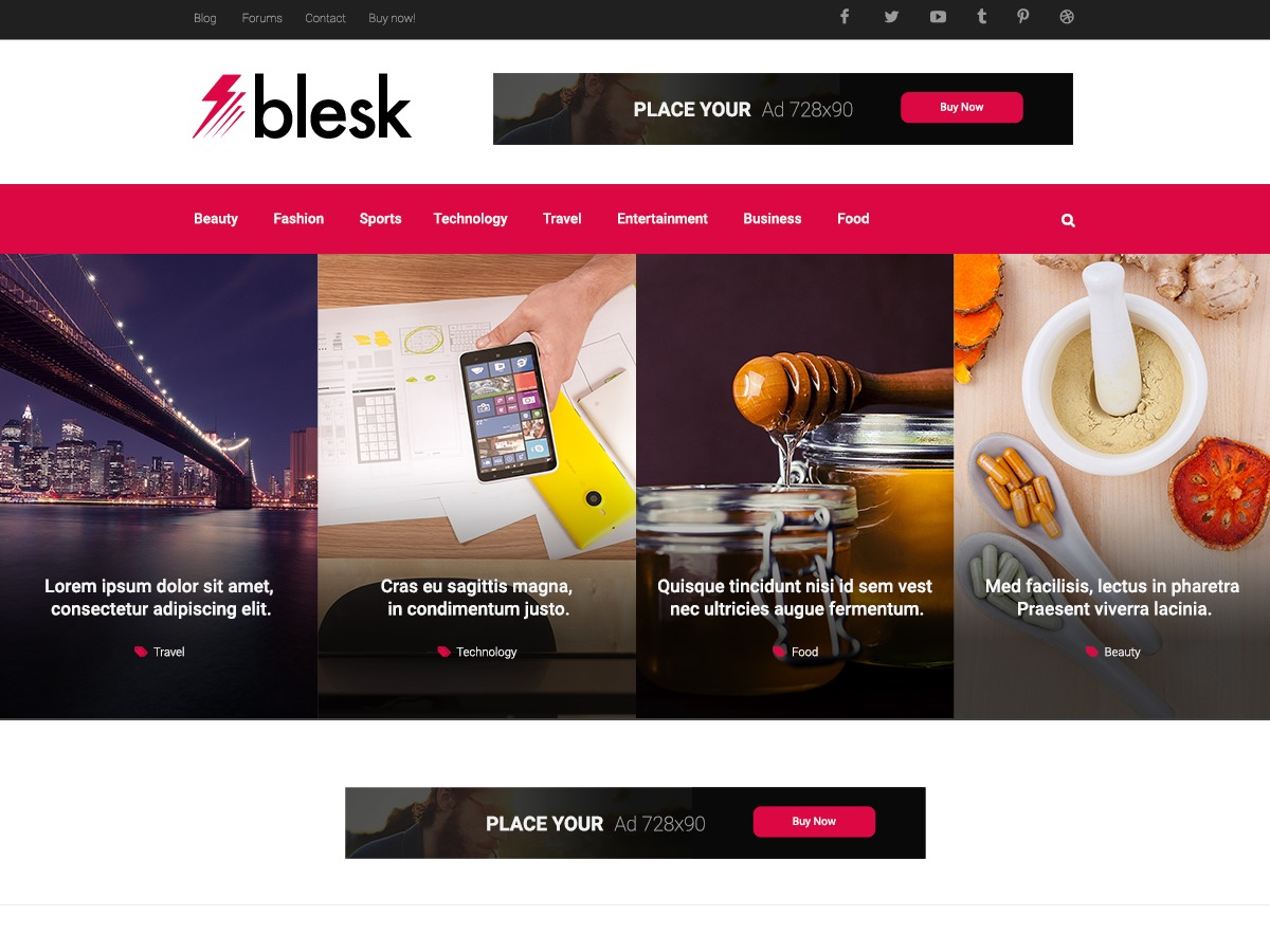 Blesk newspaper WordPress theme