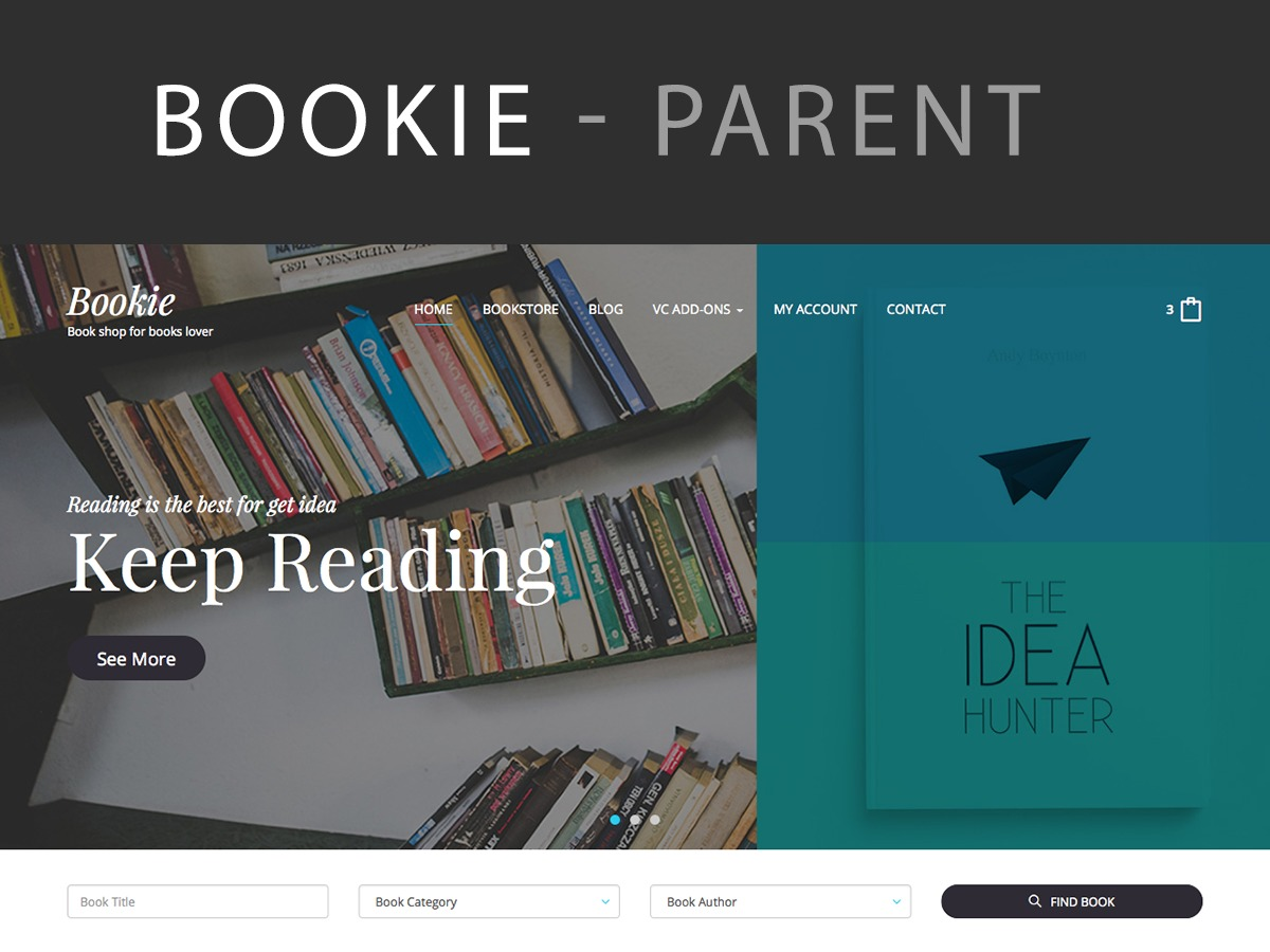 Bookie WP best WooCommerce theme