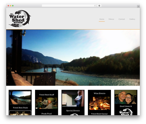 Chinese Restaurant template WordPress free - thewatershedgrill.com