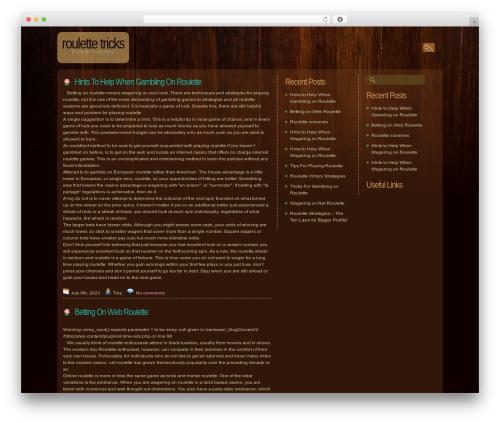 Dark Wood template WordPress - fantasticsevens.com