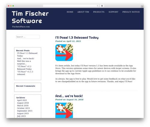 eyesite top WordPress theme - fischersplace.com