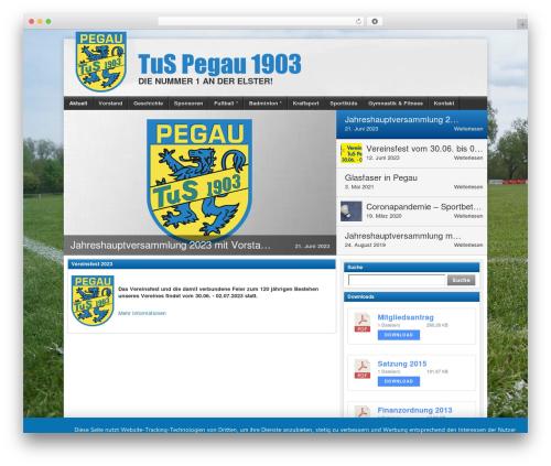 Free WordPress SportsPress – Sports Club & League Manager plugin - tus-pegau-1903.de