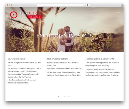 Form WordPress theme design - foto-dietrich.com