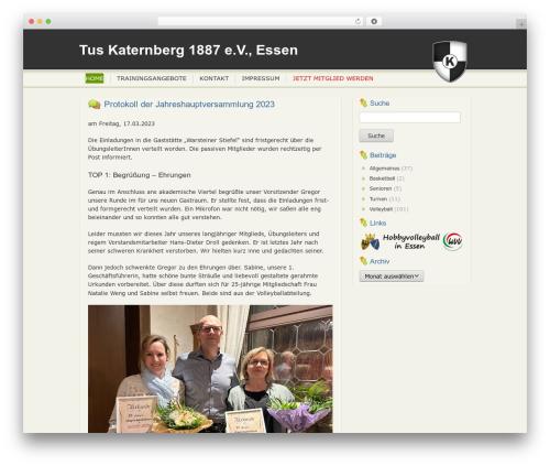 hello :D WP theme - tus-katernberg.de