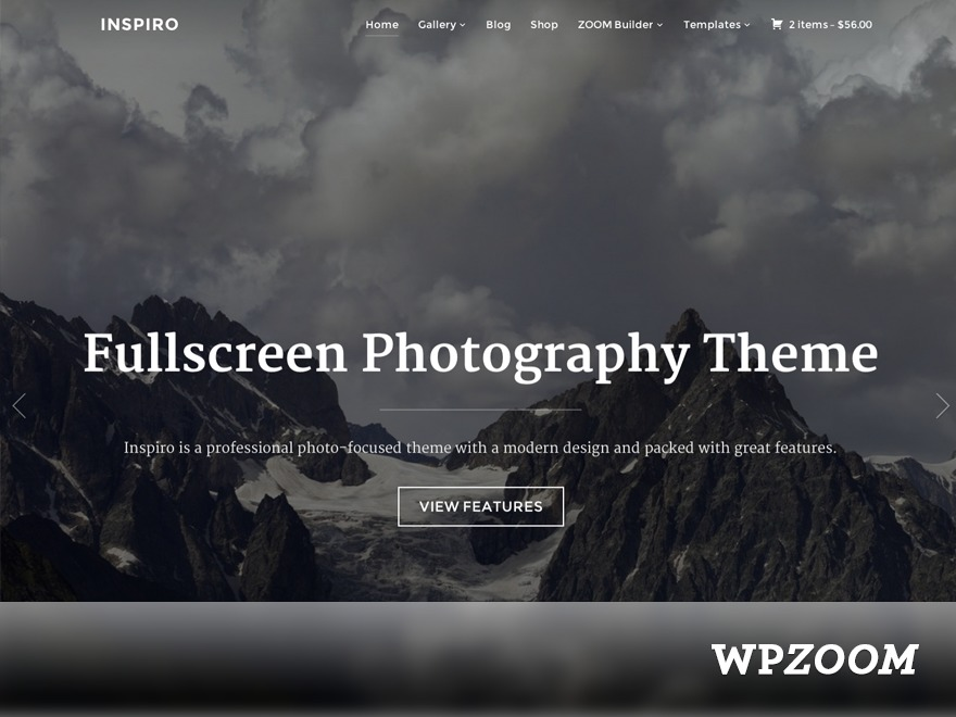 Inspiro (shared on wplocker.com) best portfolio WordPress theme