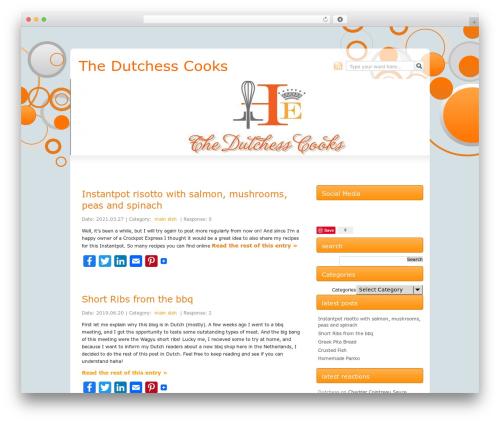 Js O4w best WordPress template - thedutchesscooks.com