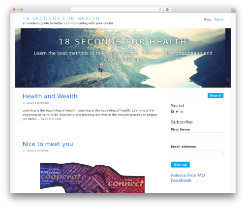 Lightfast WordPress theme - feleciafroemd.com