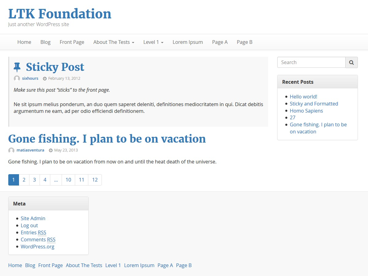 LTK Foundation free WordPress theme