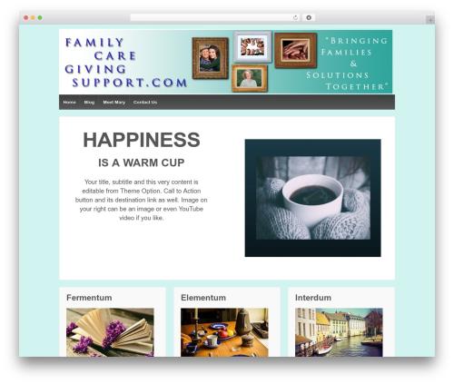 Responsive free WordPress theme - familycaregivingsupport.com
