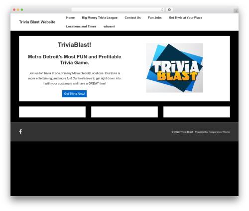 Theme WordPress Responsive - triviablast.us