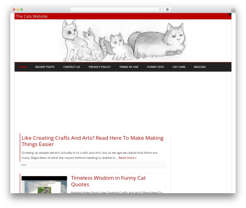 Theme WordPress Ribosome - thecatswebsite.com