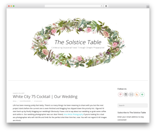 Themify Base WP template - thesolsticetable.com