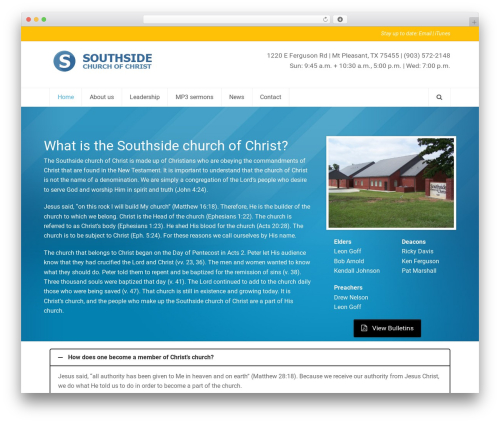 Total free WordPress theme - thesouthsidechurch.com