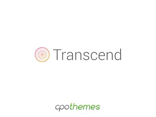 Transcend Pro personal WordPress theme