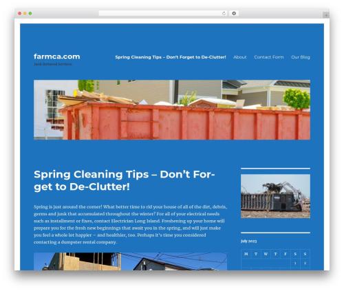 Twenty Sixteen free website theme - farmca.com
