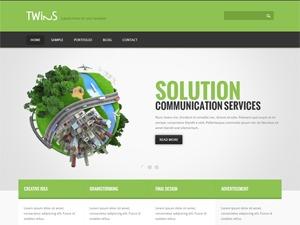 Twins company WordPress theme