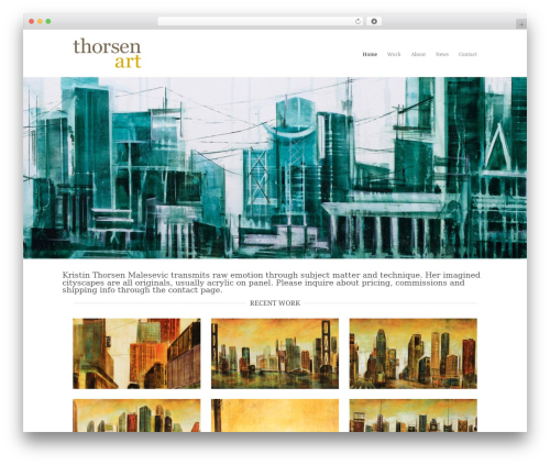 WordPress template Hero - thorsenart.com