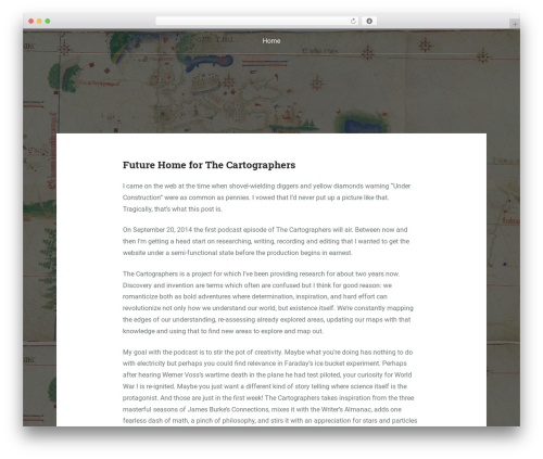 WordPress theme Padhang - thecartographers.org