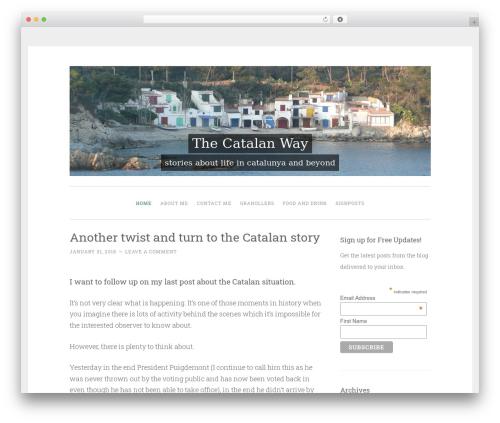 WordPress website template Penscratch - thecatalanway.co.uk