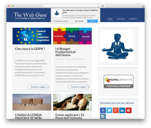 WP template Rise - thewebguru.it